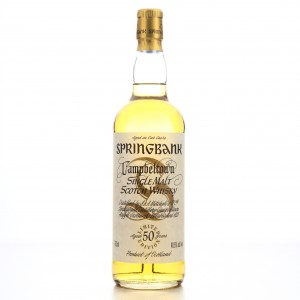 Springbank 50 Year Old Millennium Limited Edition 75cl / US Import