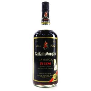 Captain Morgan Black Label Rum 1.13 Litre 1980s