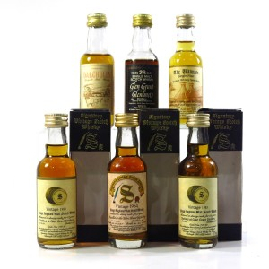 Glen Grant Miniature Selection x 6 / with Dalchully 15 Year Old