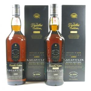 Lagavulin 1990 Distillers Edition 2 x 70cl