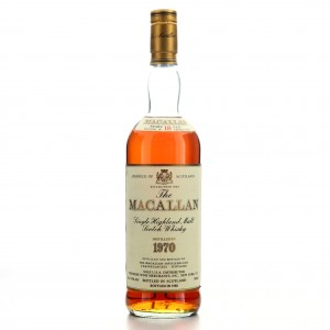 Macallan 1970 18 Year Old / Premiere Wine Merchants Import, US