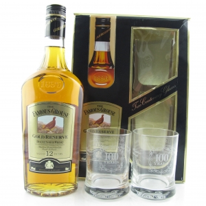Famous Grouse 12 Year Old Gold Reserve / with 2 x Tumblers