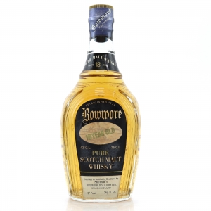 Bowmore 18 Year Old Sherriff's / Pear Shaped Bottle