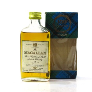 Macallan 10 Year Old 100 Proof Miniature 4cl 1970s