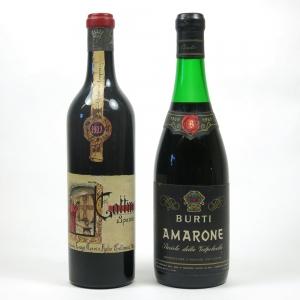 Burti Amarone 1969 Recioto Della Valpolicella and Gattinara Spanna 1977 2 x 75cl