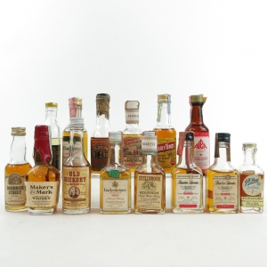 Bourbon Miniature Selection x 14 / Including Virginia Gentleman