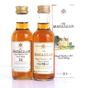 Macallan 10 Year Old & 12 Year Old Miniatures 2 x 5cl