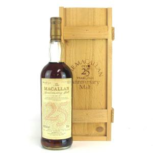 Macallan 25 Year Old Anniversary Malt / Giovinetti Import