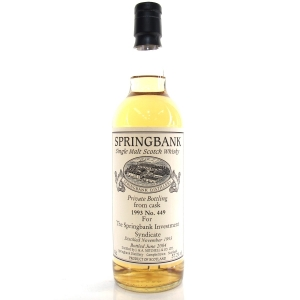 Springbank 1993 Private Cask 10 Year Old