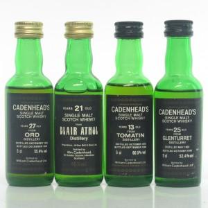 Highland Cadenhead's Miniatures x 4