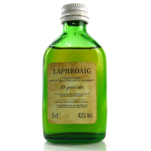 Laphroaig 10 Year Old Miniature 5cl 1980s