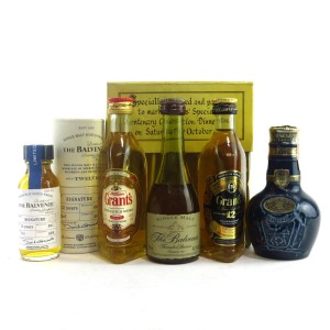 Scotch Whisky Miniature Selection 4 x 5cl and 3cl / including Royal Salute 21 Year Old
