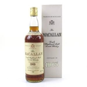 Macallan 1965 18 Year Old