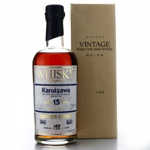 Karuizawa 1992 Single Cask 15 Year Old #3434 / Whisky Magazine Editor's Choice