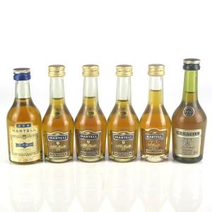 Miscellaneous Martell Cognac Miniatures 6 x 5cl