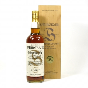 Springbank 25 Year Old Millennium Limited Edition Front