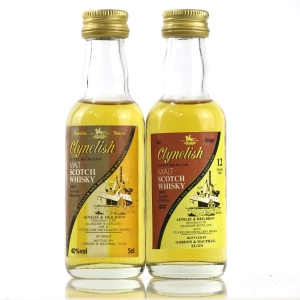 Clynelish 12 Year Old Ainslie and Heilbron Miniature 2 x 5cl 1980s