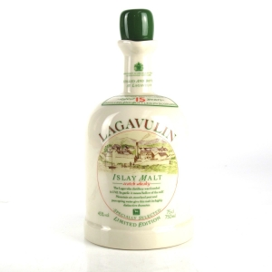 Lagavulin 15 Year Old White Horse Ceramic Decanter 1980s