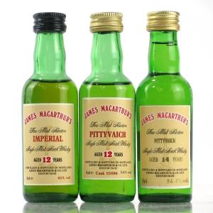 James MacArthur's Closed Distillery Miniatures 3 x 5cl
