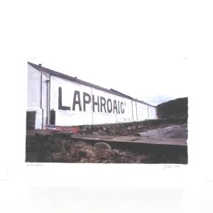 Laphroaig Landscape Print - Hand Signed by Artist Ian Gray 300g Watercolour Paper