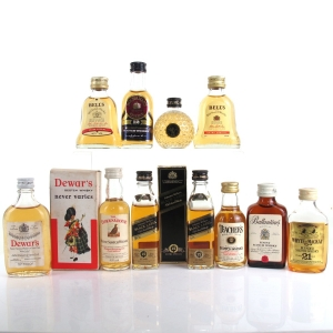 Miscellaneous Blended Whisky Miniature Selection 11 x Miniatures
