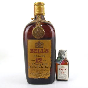 Bell's 12 Year Old De Luxe 1960s / Including Miniature