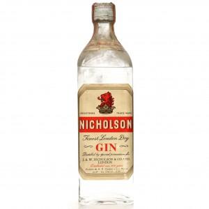 Nicholson London Dry Gin 1960s