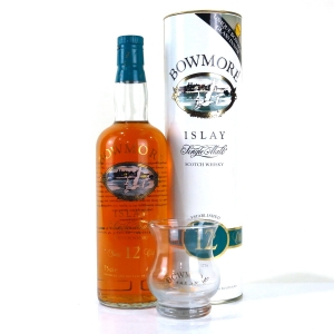 Bowmore 12 Year Old Screen Print 1980s / Including Glass