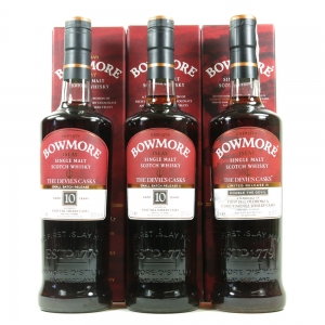Bowmore Devil's Cask 1st, 2nd and 3rd Release 3 x 70cl