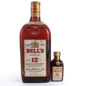 Bell's 12 Year Old 1 Quart US Import 1960/70s / Including Miniature