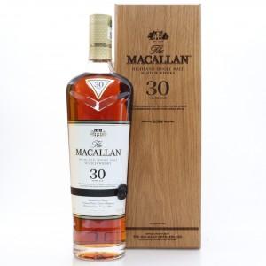 Macallan 30 Year Old Sherry Oak 2018 Release 75cl / US Import
