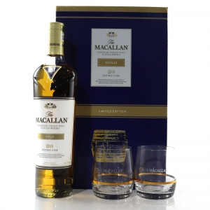 Macallan Gold Double Cask Gift Pack / Including 2 x Glasses