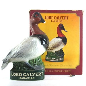 Lord Calvert Canadian Whisky / North American Canvasback Decanter