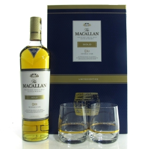 Macallan Gold Double Cask Gift Pack / with 2 x Glasses
