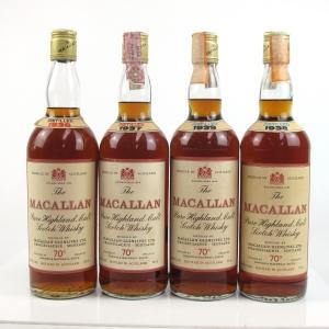 Macallan 1936 - 1939 Gordon and MacPhail Collection 4 x 26 2/3 FL Ozs