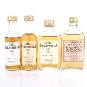 Strathisla 8 Year Old Gordon and MacPhail Miniatures x 4