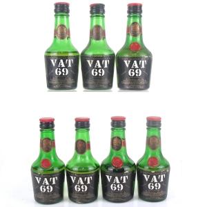 VAT 69 Miniatures x 7 1960s / SILVER Import