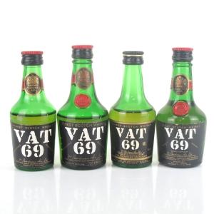Miscellaneous VAT 69 Miniatures x 4