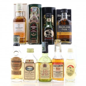 Whisky Miniature Selection x 8 / includes Highland Park 12 Year Old