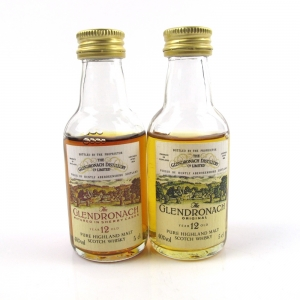 Glendronach 12 Year Old 1980s Miniatures / 2 x 5cl