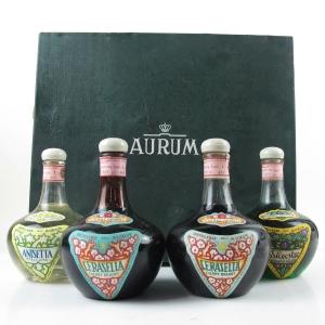 Aurum Liqueur Selection 1970s / 4 x 75cl