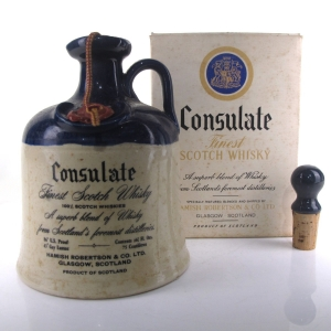 Consulate 21 Year Old Scotch Decanter 1970s