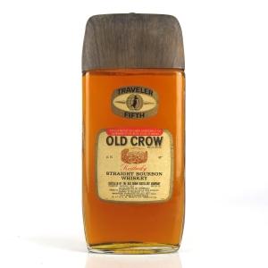 Old Crow Traveller Fifth Kentucky Straight Bourbon 1970s