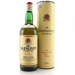 Glenlivet 12 Year Old 1 Litre 1980s