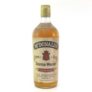 McDonald's Fine Old Scotch Whisky 1960s