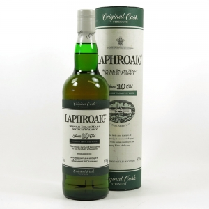 Laphroaig 10 Year Old Original Cask Strength Front