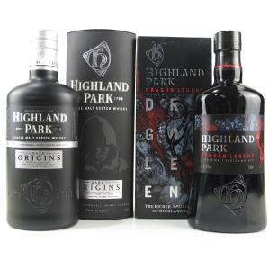 Highland Park Dark Origins & Dragon Legend 2 x 70cl