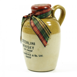 For Auld Land Syne /Sterlini Whisky Flagon Miniature 1970s