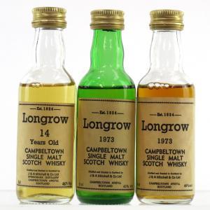 Longrow 1973 & 14 Year Old Miniatures 3 x 5cl 1980s