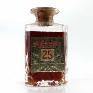 Macallan 25 Year Old Gordon and MacPhail Decanter 1970s / Co. Pinerolo Import